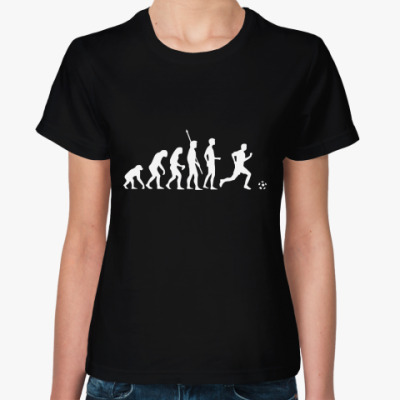 Женская футболка Эволюция футболиста