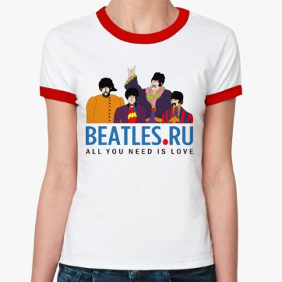 Женская футболка Ringer-T  футболка Beatles.ru