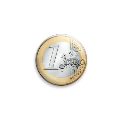 """Значок 25мм  25 мм """"Coin"""""""