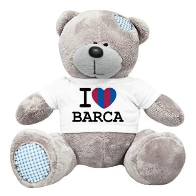 Плюшевый мишка Тедди I Love Barca