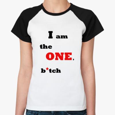 Женская футболка реглан bitch