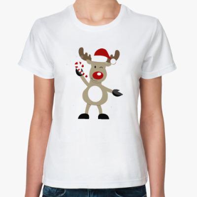 Классическая футболка Олененок с конфетой