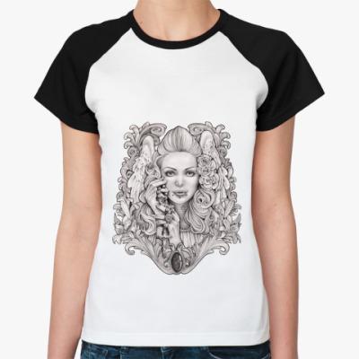 Женская футболка реглан Praying Angel