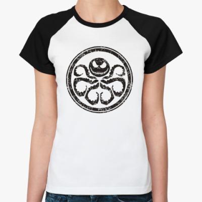Женская футболка реглан Осьминог Скеллингтон