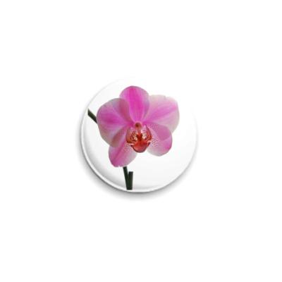 Значок 25мм  Орхидея