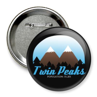 Значок 75мм Сериал Твин Пикс Twin Peaks