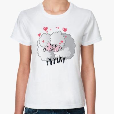 Классическая футболка Две овечки