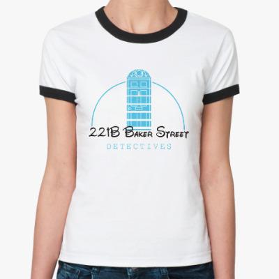 Женская футболка Ringer-T 221 Baker Street