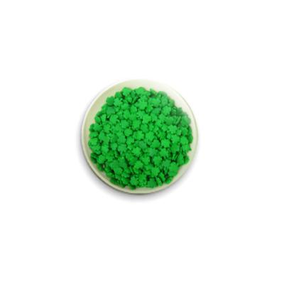 Значок 25мм 'Зеленые хлопья'