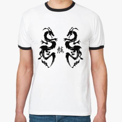 Футболка Ringer-T Black dragons