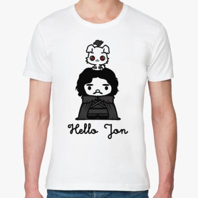 Футболка из органик-хлопка Hello Jon