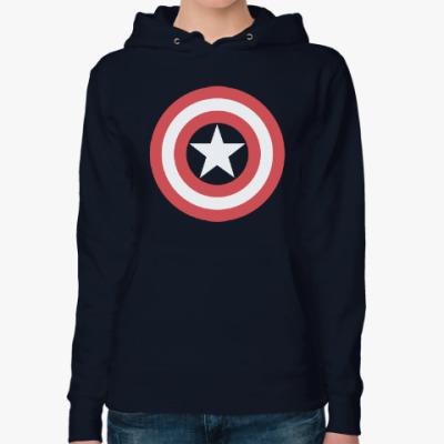 Женская толстовка худи Captain America