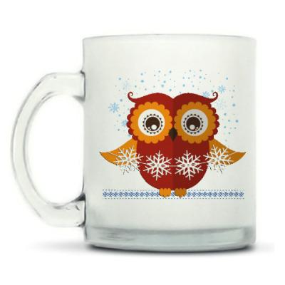 Кружка матовая Зимняя сова