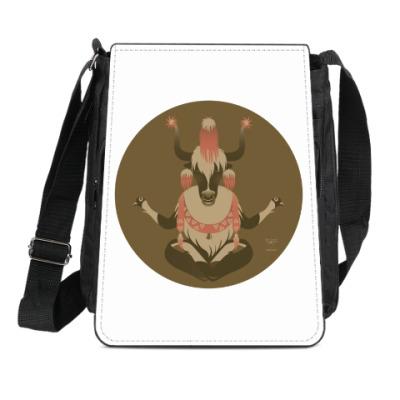 Сумка-планшет Animal Zen: Y is for tibet Yak