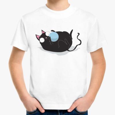 Детская футболка Кот и мячик