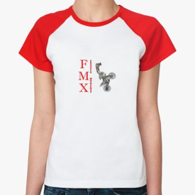 Женская футболка реглан мотофристайл