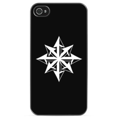 Чехол для iPhone Хаос ч/б