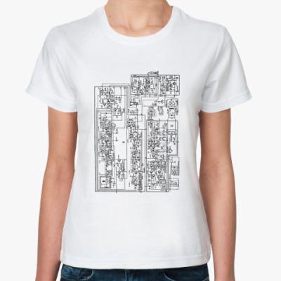 Классическая футболка  «Схема телевизора»