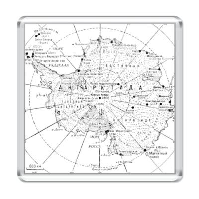 Магнит  Карта Антарктиды 2