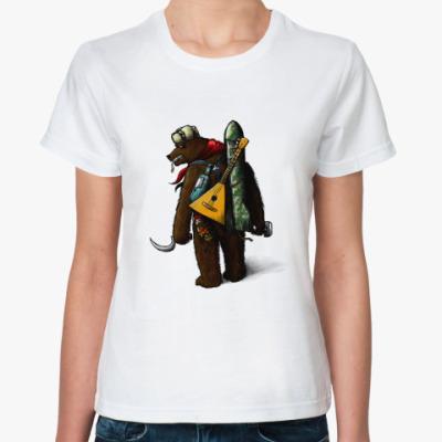 Классическая футболка  'Русский Мишка'