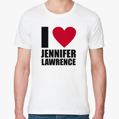 Футболка из органик-хлопка JENNIFER LAWRENCE