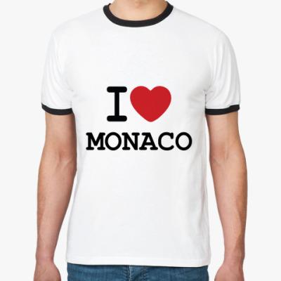 Футболка Ringer-T   I Love Monaco