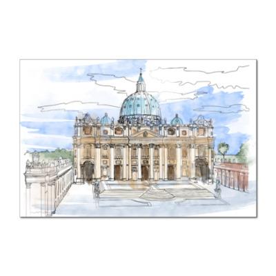 Наклейка (стикер) Ватикан - Собор Святого Петра