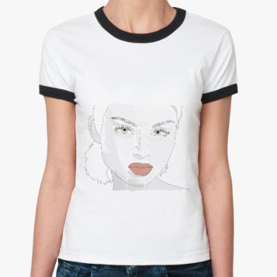 Женская футболка Ringer-T эффектная блондинка