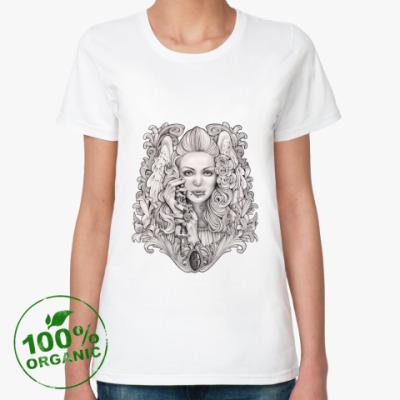 Женская футболка из органик-хлопка Praying Angel