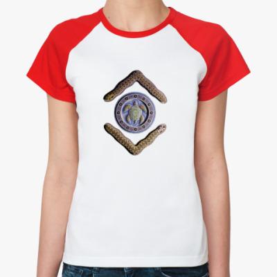 Женская футболка реглан ~Черепаха и бумеранги~Женск.