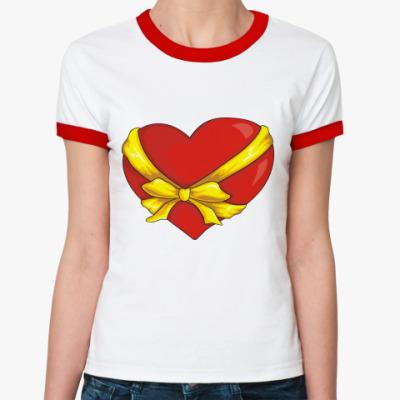 Женская футболка Ringer-T Сердце