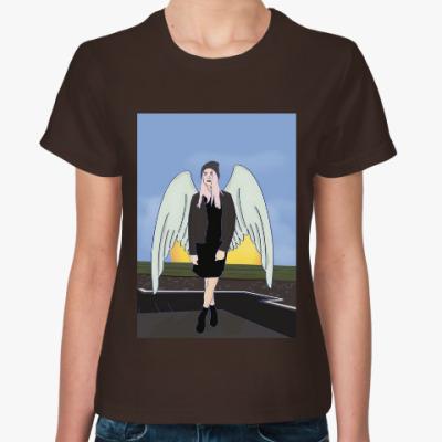 Женская футболка ангел