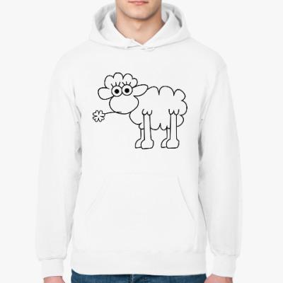 Толстовка худи Овца с клевером