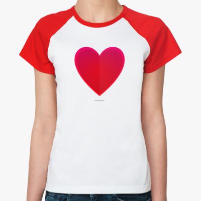 Женская футболка реглан  ненависть
