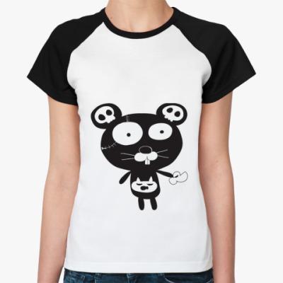 Женская футболка реглан Cat Monster
