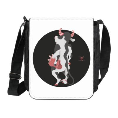 Сумка на плечо (мини-планшет) Animal Fashion: C is for Cow with a Clutch