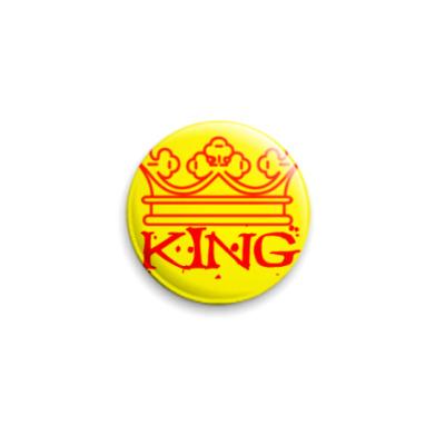 Значок 25мм  Кинг