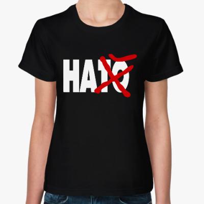 Женская футболка НАТО на Х