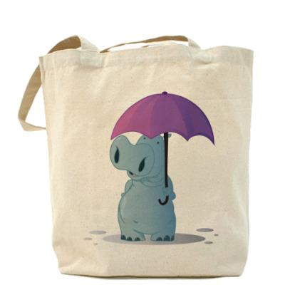 Сумка бегемотик с зонтом
