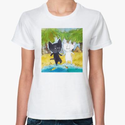 Классическая футболка С тобой- и море по колено