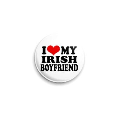 Значок 25мм  'I lv my Irish'