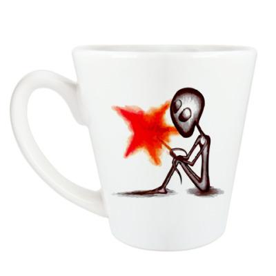 Чашка Латте Грустное Привидение