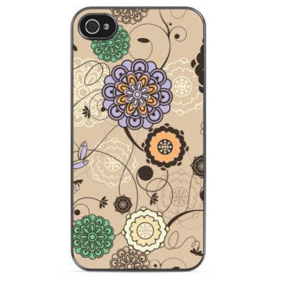 Чехол для iPhone Цветочная Асбстракция