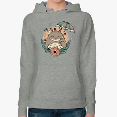 Женская толстовка худи Smile Totoro
