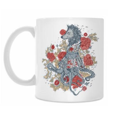 Кружка Волк-девушка-осьминог
