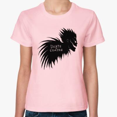 Женская футболка Death is coming