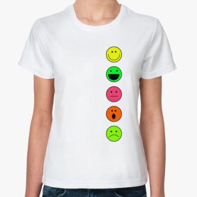 Классическая футболка  Smiles