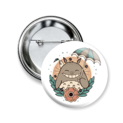 Значок 50мм Smile Totoro