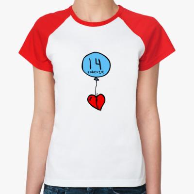 Женская футболка реглан Воздушная любовь