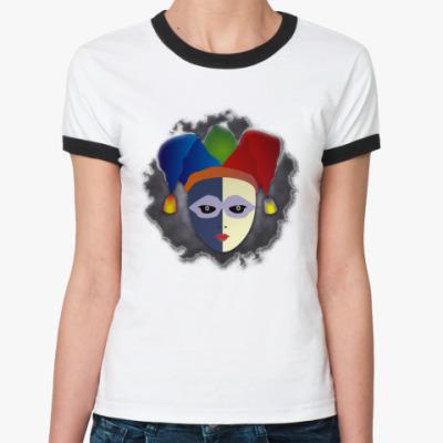 Женская футболка Ringer-T Чёрный Паяц